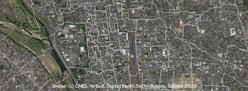 高崎駅衛星画像